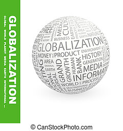 GLOBALIZATION. Word cloud illustration. Tag cloud concept ...