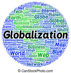 Globalization word cloud shape