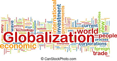 Globalization wordcloud - Word cloud tags concept...