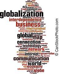globalizzazione, parola, nuvola