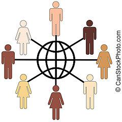 globalmente, diverso, pessoas