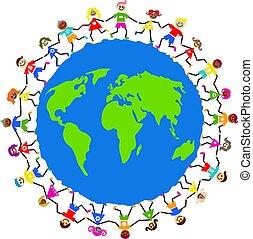 globalny, dzieciaki