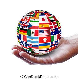 globalny, międzynarodowy, pojęcie, handlowy