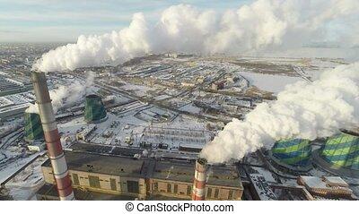 globalny, warming., aerial.