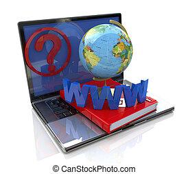 globalny, zapytanie, online