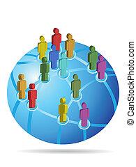 globalt netværk, sociale