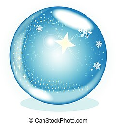 globe, étoile, noël