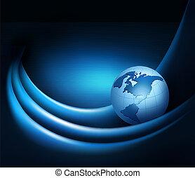 globe., επιχείρηση , αφαιρώ , εικόνα , κομψός , μικροβιοφορέας , φόντο