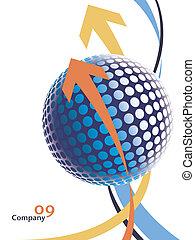 globe., 次元, デジタル, 3