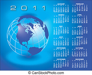 globe, 2011, kalender