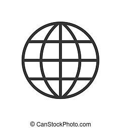 2d globe pictogram