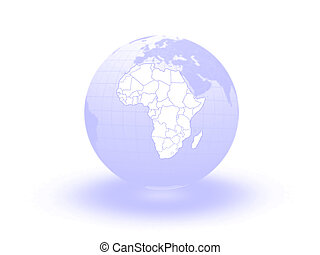 Globe. 3d. Africa.
