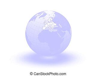 Globe. 3d. Europe.