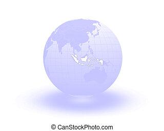 Globe. 3d. Indonesia.