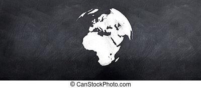 Globe 3d on Blackboard