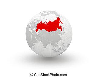 Globe. 3d. Russia.