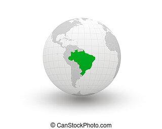 Globe. 3d. Venezuela.