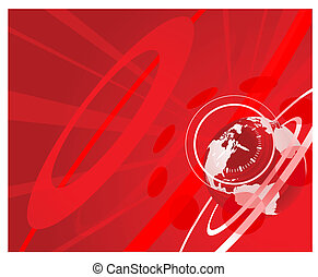 globe, achtergrond, klok