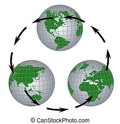 Globe all continents