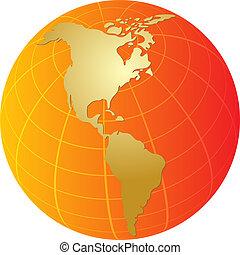 Globe Americas - Globe map illustration of the Americas...