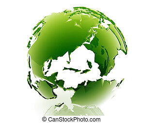 Globe Americas - Globe map illustration of continental ...