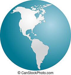 Globe Americas - Globe map illustration of the Americas ...