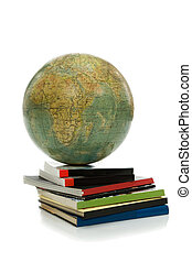 Globe and books- knowledges