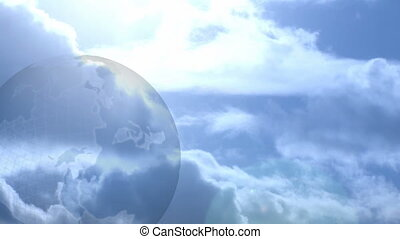 Globe and Clouds backgrounds