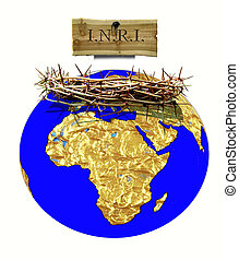 globe and crown of thorns