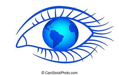 Globe and eye