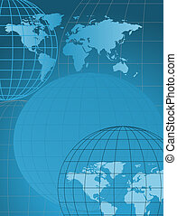 Globe and Map - Background with globe and map
