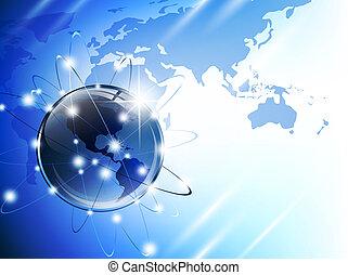 Globe and map - World map (from NASA public domain...