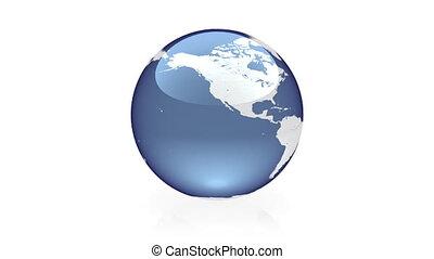Globe animation blue