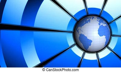 Globe animation. Loop background.