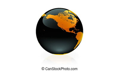 Globe animation terracotta