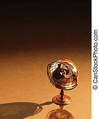 globe antique, fond