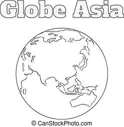 Globe Asia view