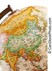globe, -, asie