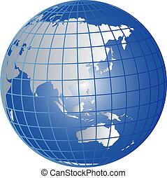 globe, australie, asie