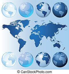 globe bleu, kit