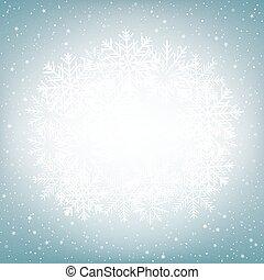 globe bleu, neige, fond