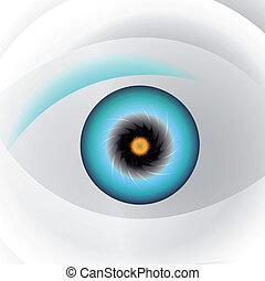 Globe blue eye