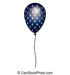 globe blue with white stars and cord