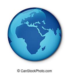 globe, bouton