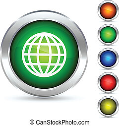 Globe button.