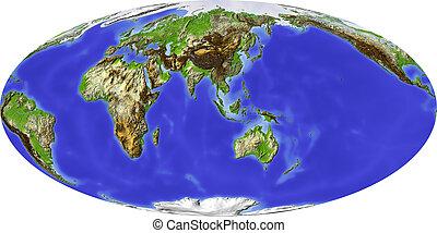Globe, centered on Asia