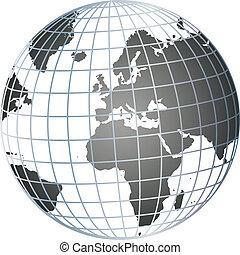 globe - illustration of a globe