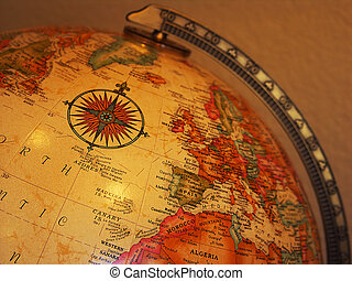 Globe - Close up of antique globe