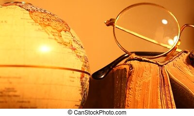 Close-up old globe