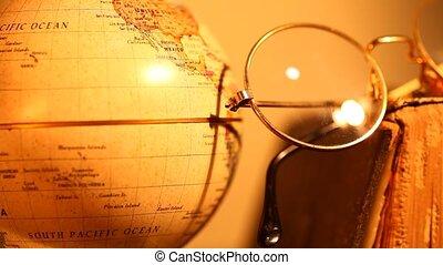 Globe - Close-up old globe